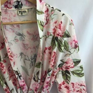 Show Me Your Mumu Brie Robe Floral Print O/S A24